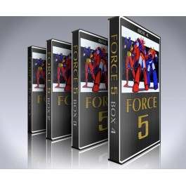Force Five DVD Box Set - Starvengers, Grandizer, Gaiking, Danguard. Spaceketeers