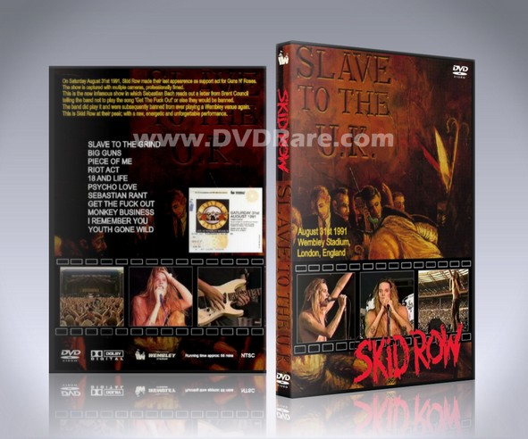 Skid Row Live UK DVD - Wembley 1991 - Slave to the Grind
